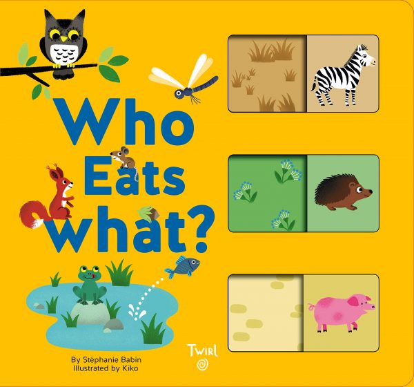 Who Eats What? Slide-and-Learn Book